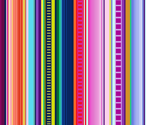 Multicolor Mexican Serape Inspired Stripe Fabric (Larger Scale)   fabric by theartwerks on Spoonflower - custom fabric