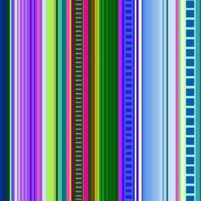 Cool Colors Mexican Inspired Serape Fabric