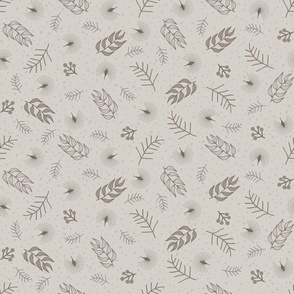 Woodland Scatter: Warm Gray Small Print