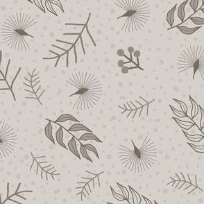 Woodland Scatter Large Scale: Warm Gray