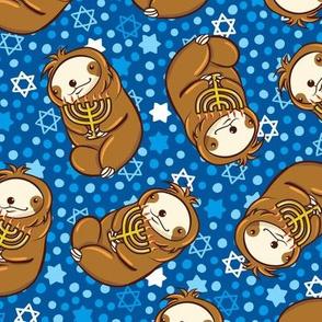 Sloth Hanukkah Menorah