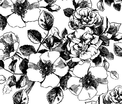 Gardenia Garden fabric by red_raspberry_designs on Spoonflower - custom fabric