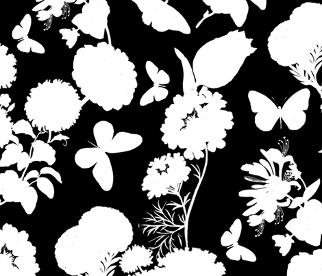 Black & White Toile fabric by the_lemon_bee on Spoonflower - custom fabric