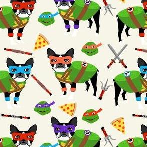 boston terrier dog fan fabric - cosplay, fan art, dog costume -cream