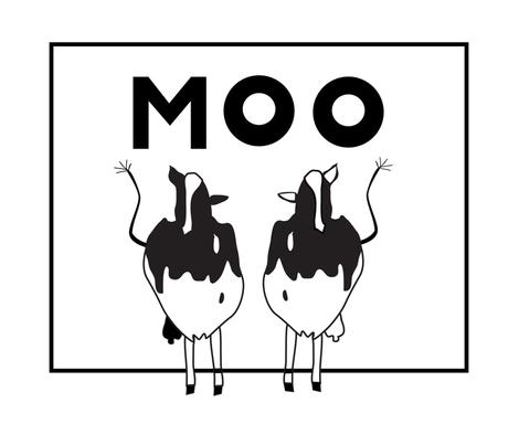 No Bovine Growth Hormone cows fabric by designergena on Spoonflower - custom fabric
