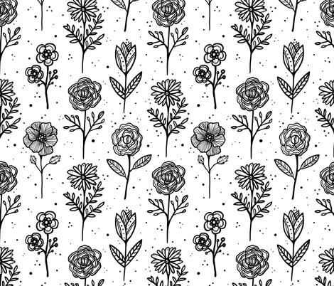Wildflower Wallflowers fabric by robyriker on Spoonflower - custom fabric