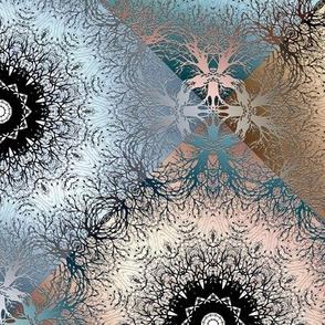 Openwork seamless gradient abstract pattern