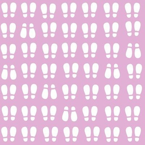 gum boot prints - white on pink