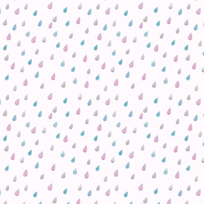 rain drops – magenta & smoke blue