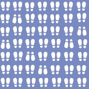 gum boot prints  - white on indigo