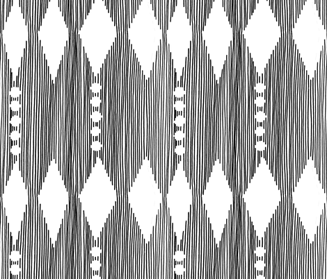 BEADS CURTAIN  B/W  fabric by escarlata on Spoonflower - custom fabric