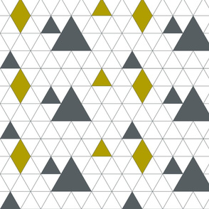 Scandinavian Blue and Mustard Triangles