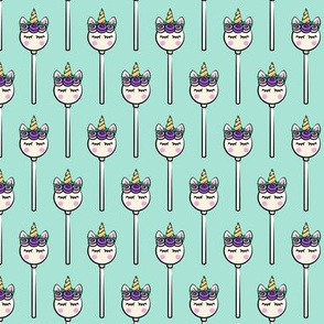 Unicorn Cake Pops -  light teal (purple)