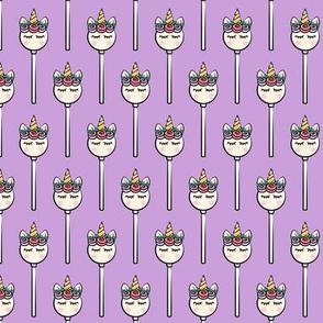 Unicorn Cake Pops -  Purple