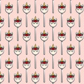 Unicorn Cake Pops -  Rose