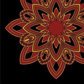Mandala - Seedpod in Autumn Colors - Large Scale