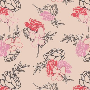 Roses and Ribbons Pattern