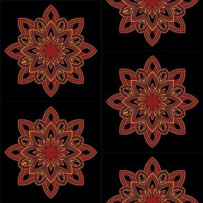 Mandala - Seedpod in Autumn Colors - Medium Scale