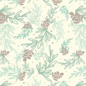 Falling Pine Leaves Pattern