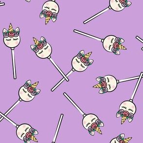 Unicorn Cake Pops - Toss on Purple