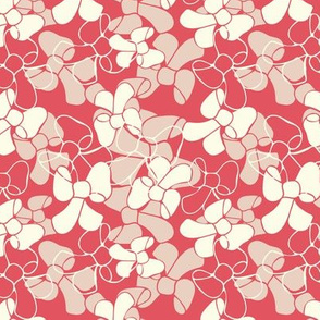 Red Ribbons Texture Pattern