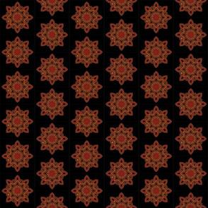 Mandala - Seedpod in Autumn Colors - Small Scale