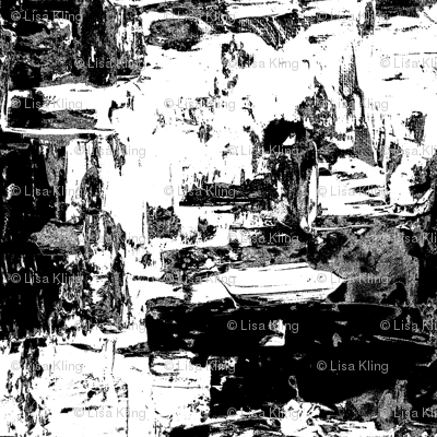 Acrylic White & Black Palette Knife Painting