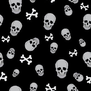 Skulls and cross bones