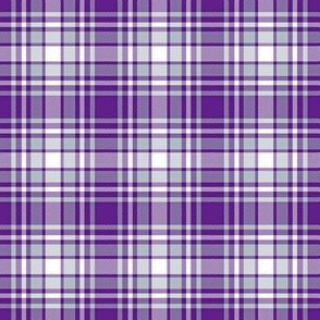 Purple White and Gray Plaid