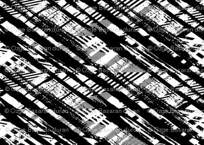Black and White Abstract Plaid
