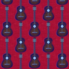 Guitar Acoustic on dk red