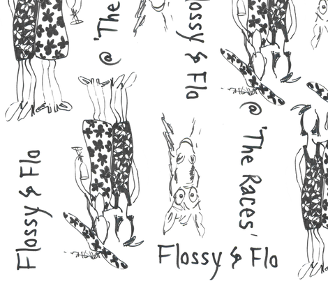 Flossy & Flo @ The Races fabric by lynette_graham on Spoonflower - custom fabric
