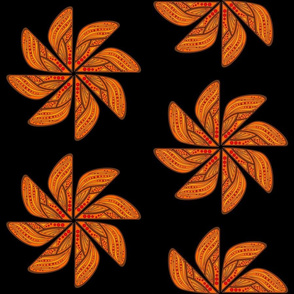 Mandala - Wing in Monarch Colors - Mid scale