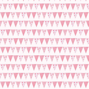 watercolour patterns on bunting - small