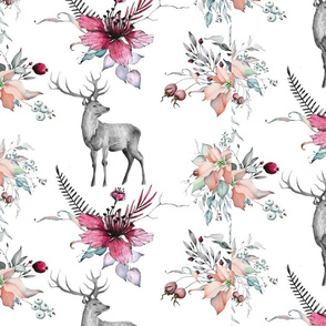 Stag Floral