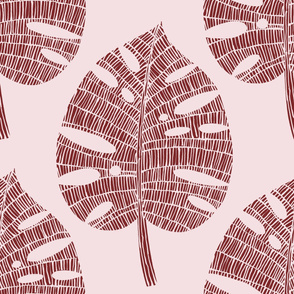 tropical leaf (Brick on Plaster)