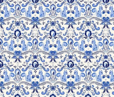 scandinavian squirrels fabric by vivdesign on Spoonflower - custom fabric