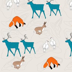 Scandinavian animals - beige