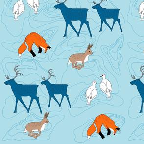 Scandinavian animals - blue