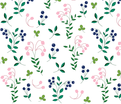 Blueberries fabric by schneede_design on Spoonflower - custom fabric