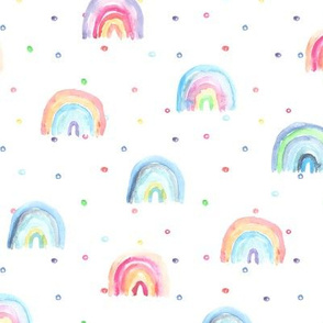 Tender rainbow baby dreams || watercolor for nursery