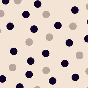 Jumbo scale happy dots cream-noir