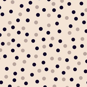 small scale happy dots cream-noir