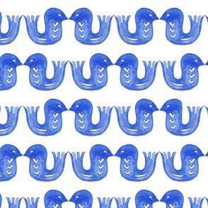 Scandi love birds blue