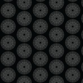 Mandala - Anansi in White on Black - Small Scale