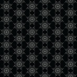 Mandala - Cabin in Black on White - Small Scale
