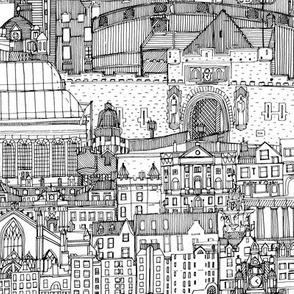 Edinburgh toile black white