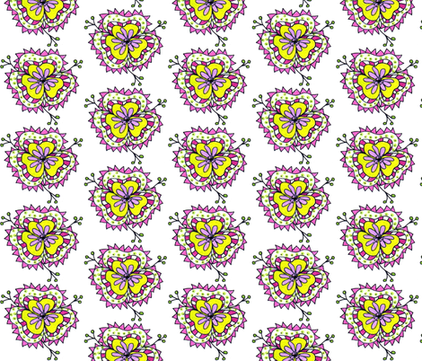 scattered blooms- yellow fabric by unclemamma on Spoonflower - custom fabric