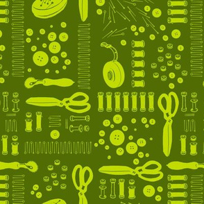 Sewing Tools (green)