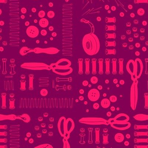 Sewing Tools (pink and purple)
